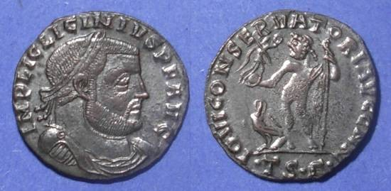 Ancient Coins - Roman Empire, Licinius 308-324, Silvered Follis