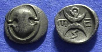 Ancient Coins - Thespiae Boeotia – Obol Circa 350 BC