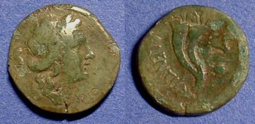 Ancient Coins - Valentia Vibo - Bruttium : Semis Circa 180 BC