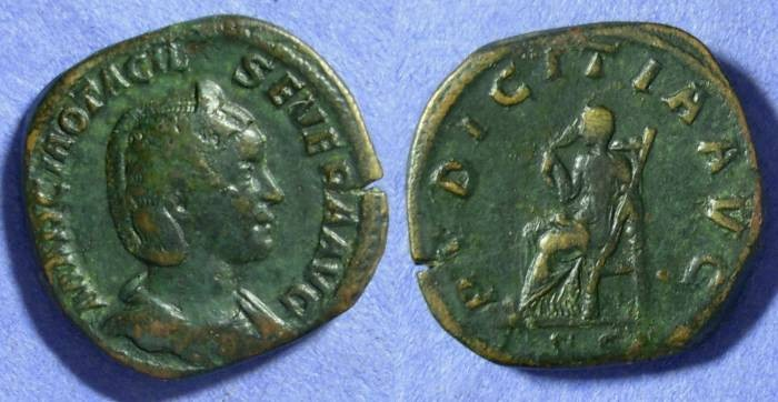 Ancient Coins - Otacilia Severa (Wife of Philip) 244-9 – Sestertius