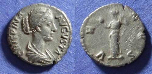 Ancient Coins - Roman Empire, Crispina (Wife of Commodus) d. 182 AD, Denarius