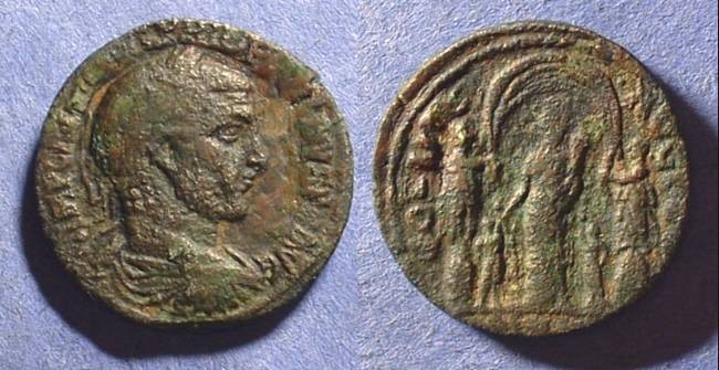 Ancient Coins - Philip 244-249 - AE28 of Heliopolis Syria