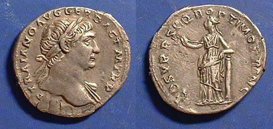 Ancient Coins - Trajan 98-117 AD - Denarius