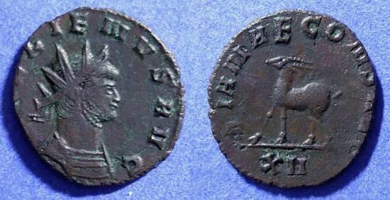 Ancient Coins - Gallienus 253-268AD Antoninianus - Antelope reverse