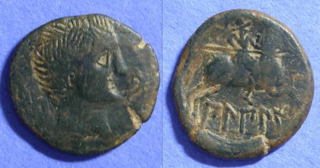 Ancient Coins - Bilbilis Spain - AE27 Circa 100 BC