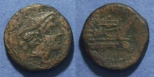 Ancient Coins - Roman Republic, Anonymous 215-211 BC, Semuncia