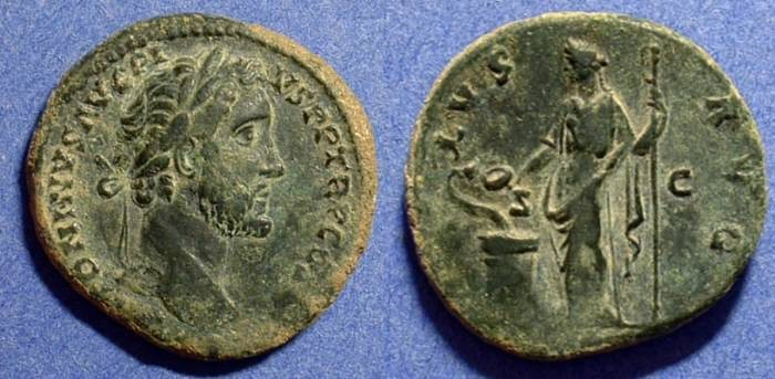 Ancient Coins - Antoninus Pius 138-161 AE Aes