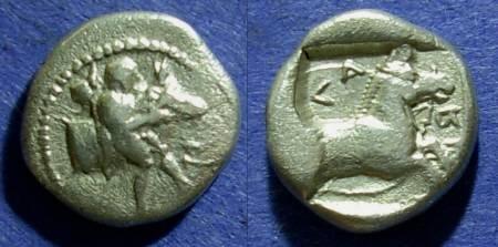 Ancient Coins - Larissa, Thessaly 460-440 BC, Hemidrachm
