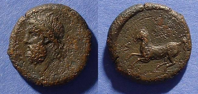 Ancient Coins - Syracuse Sicily Dilitron 344-336 BC - Timoleon