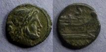 Ancient Coins - Roman Republic, Anonymous 91 BC, Semis