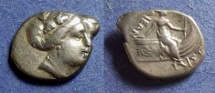 Ancient Coins - Euboea, Histiaea Circa 250 BC, Tetrobol