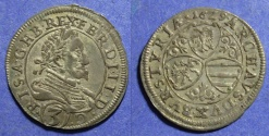 World Coins - Styria Austria, Archduke Ferdinand II 1637-1657, Groschen 1629