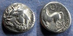 Ancient Coins - Eastern Europe Celts, Kugelwange type Circa 150 BC, Drachm
