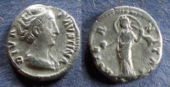 Ancient Coins - Roman Empire, Diva Faustina Sr d.141, Denarius