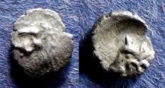 Ancient Coins - Caria, Uncertain city 400-340 BC, Hemiobol