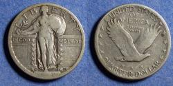 Us Coins - United States,  1920-S, Silver Standing Liberty Quarter