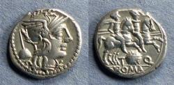 Ancient Coins - Roman Republic, T Quinctius Flamininus 126 BC, Denarius