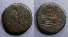 Ancient Coins - Roman Republic, Anonymous 169-158 BC, As