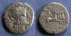 Ancient Coins - Roman Republic, P. Maenius M.f. Antias 132 BC, Denarius