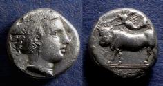 Ancient Coins - Campania, Neopolis 395-385 BC, Nomos