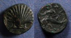 Ancient Coins - Calabria, Tarentum 275-200 BC, AE13