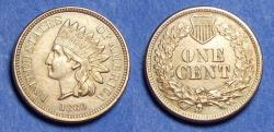 Us Coins - United States,  1860 Pointed Bust,  Indian Head Cent