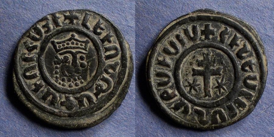 World Coins - Armenia, Levon 1198-1219, Tank