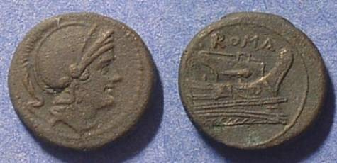 Ancient Coins - Roman Republic - Quartuncia 217-215 BC