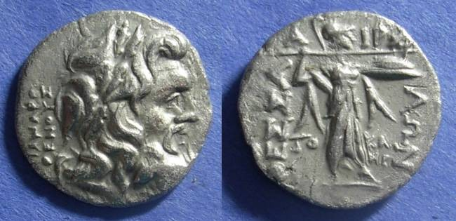 Ancient Coins - Thessalian League,  51-48 BC, Stater ( Double Victoriatus )