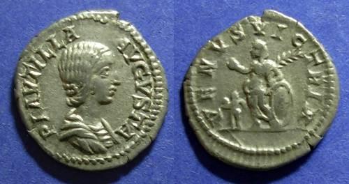 Ancient Coins - Roman Empire, Plautilla 202-205, denarius