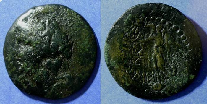Ancient Coins - Rhodes, Caria Circa 30 BC, Drachm 35mm
