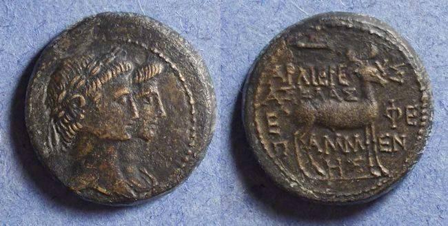 Ancient Coins - Ephesus Ionia, Augustus & Livia 27BC-14AD, AE20