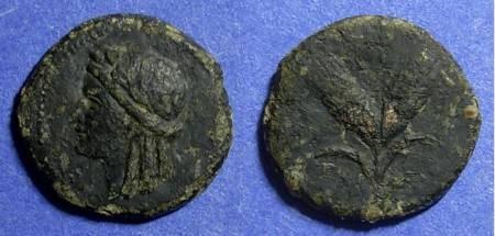 Ancient Coins - Panormos, Sicily Circa 150 BC, AE17