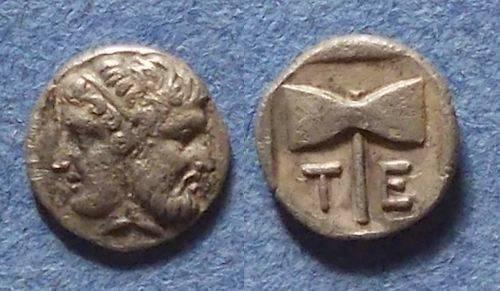 Ancient Coins - Tenedos, Islands off Troas Circa 500 BC, Obol - Ex CNG Auction 58