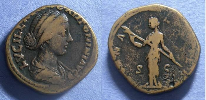 Ancient Coins - Roman Empire, Lucilla (Wife of Verus) 164-9, Sestertius