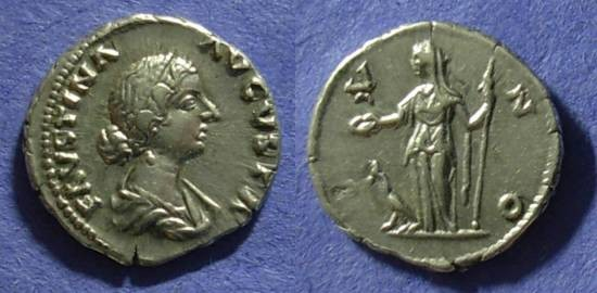 Ancient Coins - Faustina Jr (Wife of Aurelius) 161-175AD Denarius