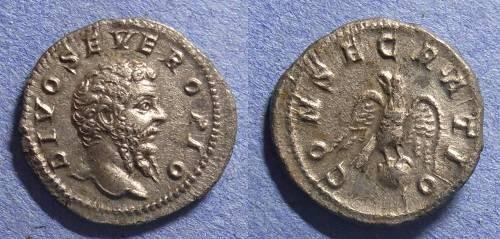 Ancient Coins - Roman Empire, Divo Septimius Severus d. 211AD, Denarius