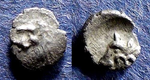 Ancient Coins - Caria, Uncertain city 400-340 BC, Hemiobol