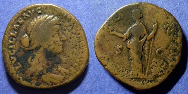 Ancient Coins - Roman Empire, Lucilla d. 182, Sestertius