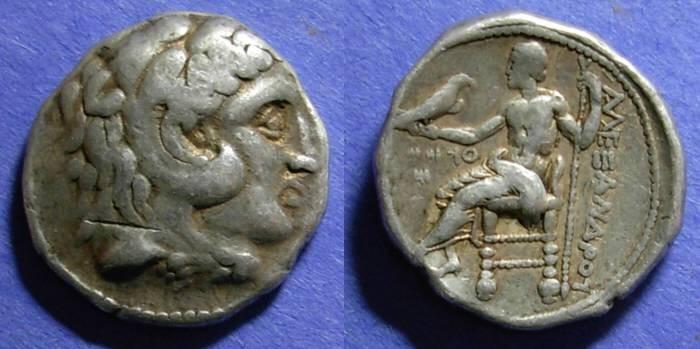 Ancient Coins - Macedonian Kingdom, Alexander III 307/6 BC, Tetradrachm