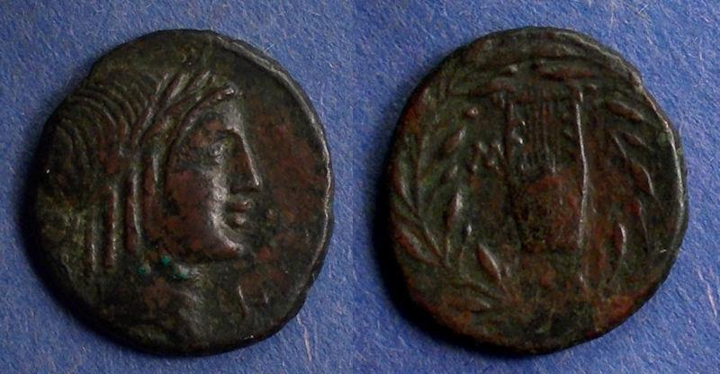 Ancient Coins - Lycian League, Masikytes 23-19 BC, Double unit