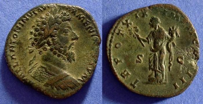 Ancient Coins - Marcus Aurelius 161-180 - Sestertius