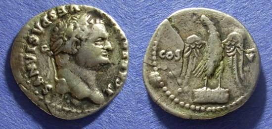 Ancient Coins - Roman Empire Titus (as Caesar) 69-79 Denarius
