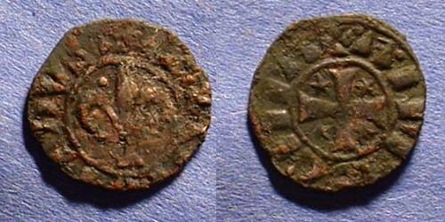 Ancient Coins - Crusader Antioch Bohemond IV 1201-16 AE Pougeoise