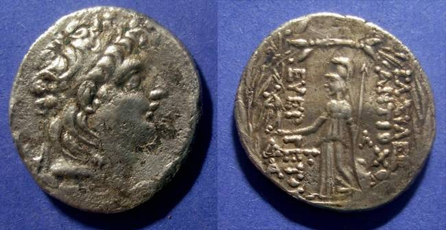 Ancient Coins - Seleucid - Cappadocia, Antiochos VII 139-128 BC, Tetradrachm