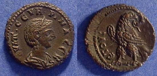 Ancient Coins - Roman Egypt - Severina (wife of Aurelian) 270-5 - Potin Tetradrachm