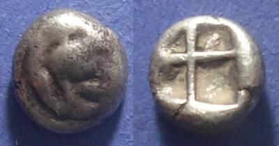 Ancient Coins - Chios, Ionia 400-380 BC, Hemidrachm