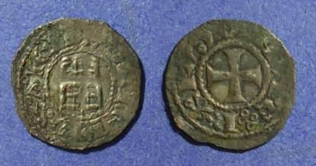 Ancient Coins - Crusades - Jerusalem, Baldwin III 1143-63, Obol
