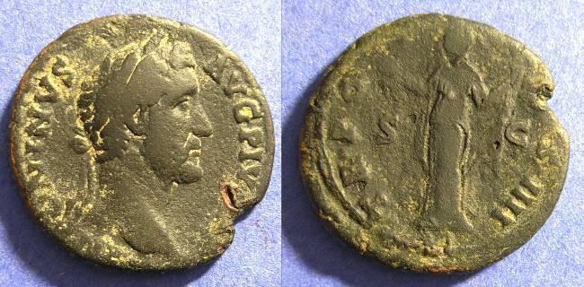 Ancient Coins - Antoninianus Pius 138-161 Aes