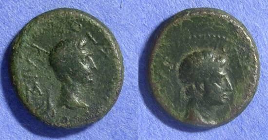 Ancient Coins - Thracian Kings – Augustus & Rhoemetalkes I 11BC-12AD – 18AD